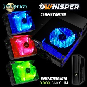 WHISPER SLIM  - RED GREEN BLUE Cooling Fan for your XBox 360 Slim